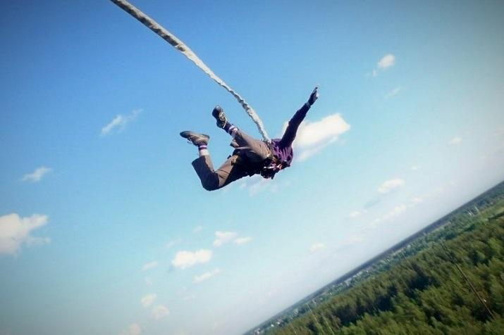 роупджампинг на веревке с 50 метров