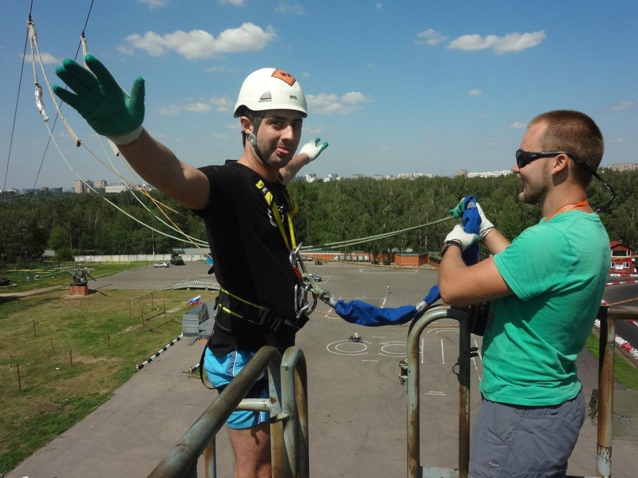"""Сейчас прыгнет """"bungee jumping"""" с московской вышки"""