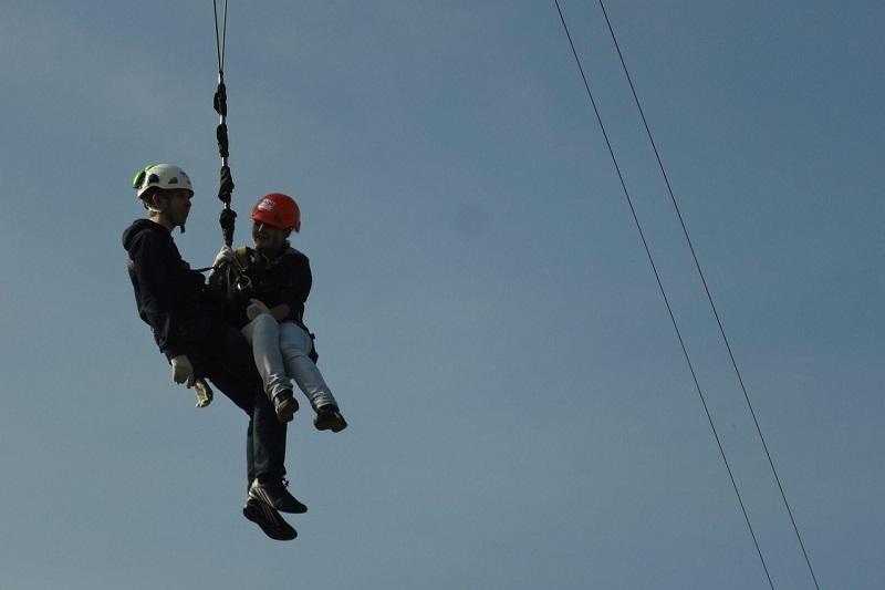 """""""банджи-джампинг"""" тандем прыжок на веревках в Москве с вышки 23 метра"""