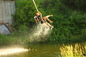 """Прыжки с """"резинкой"""" с моста тандемом (""""bungee jumping"""")"""