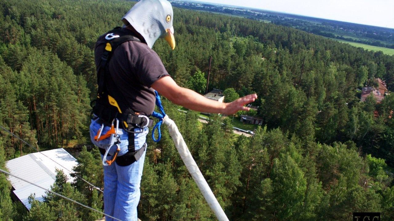 Первый прыжок Голубя в ropejumping