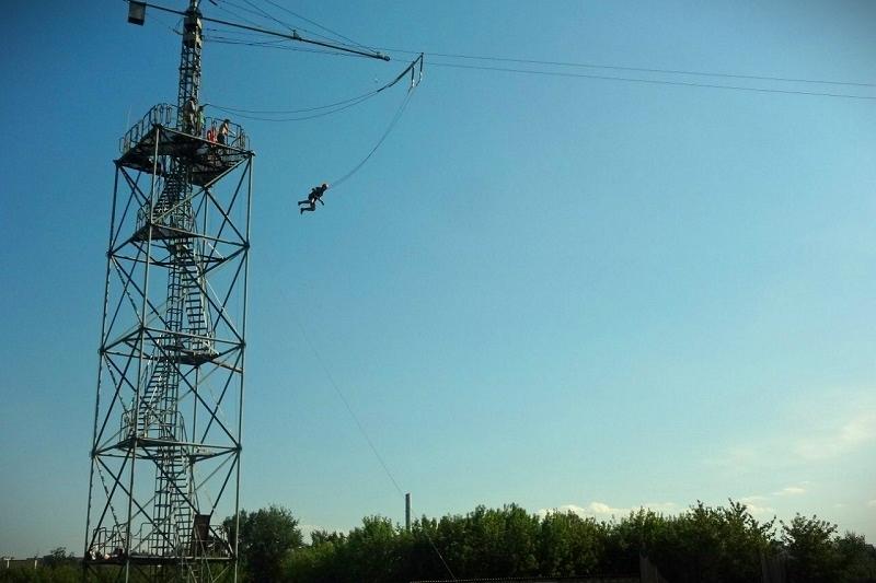 """Прыжок с 23 метровой вышки - """"bungeejumping"""""""