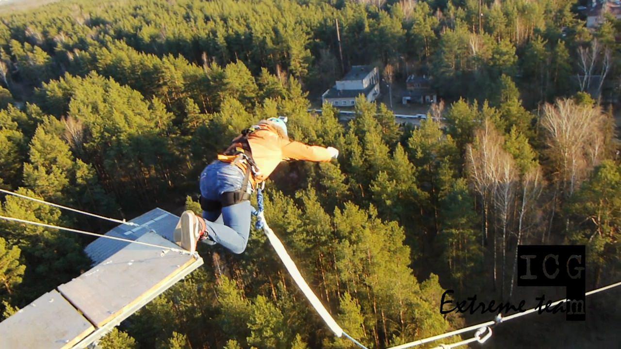 """Веселый """"bungee jumping"""" в Московской области с 50 метров"""