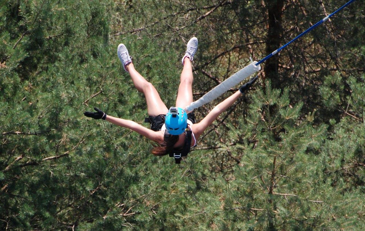 """""""Банджи-джампинг"""" Он же Rope Jumping - экстрим прыжки с веревкой с 50 метровой высоты"""