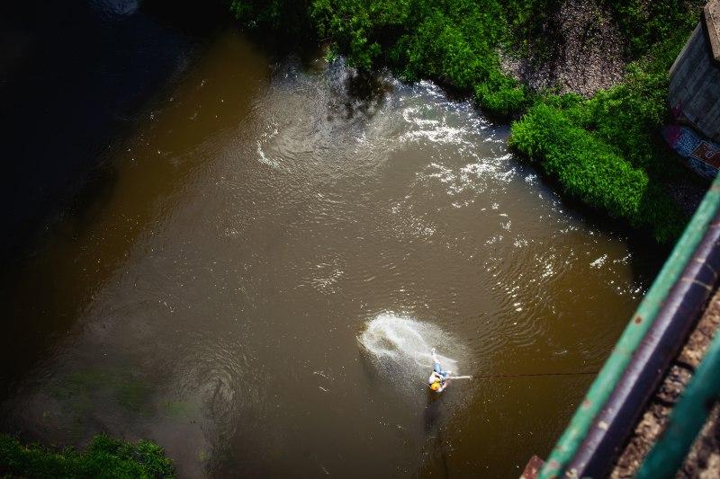"""Прыжки с моста в воду (""""банджиджампинг"""") Московская область"""
