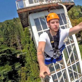 ropejumping abhazia 60 метровый лифт