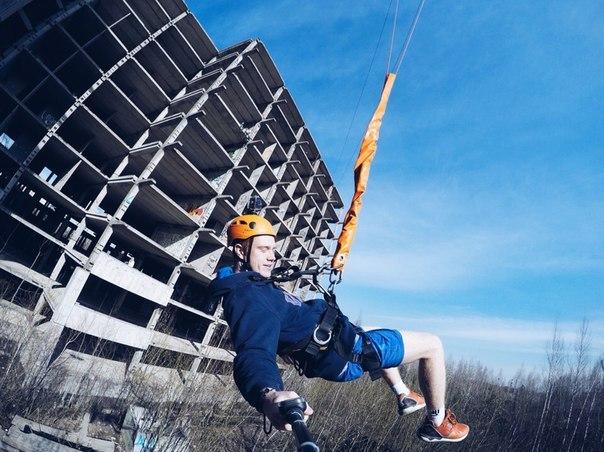 Прыжок с веревкой с Пятерочки на GOPRO