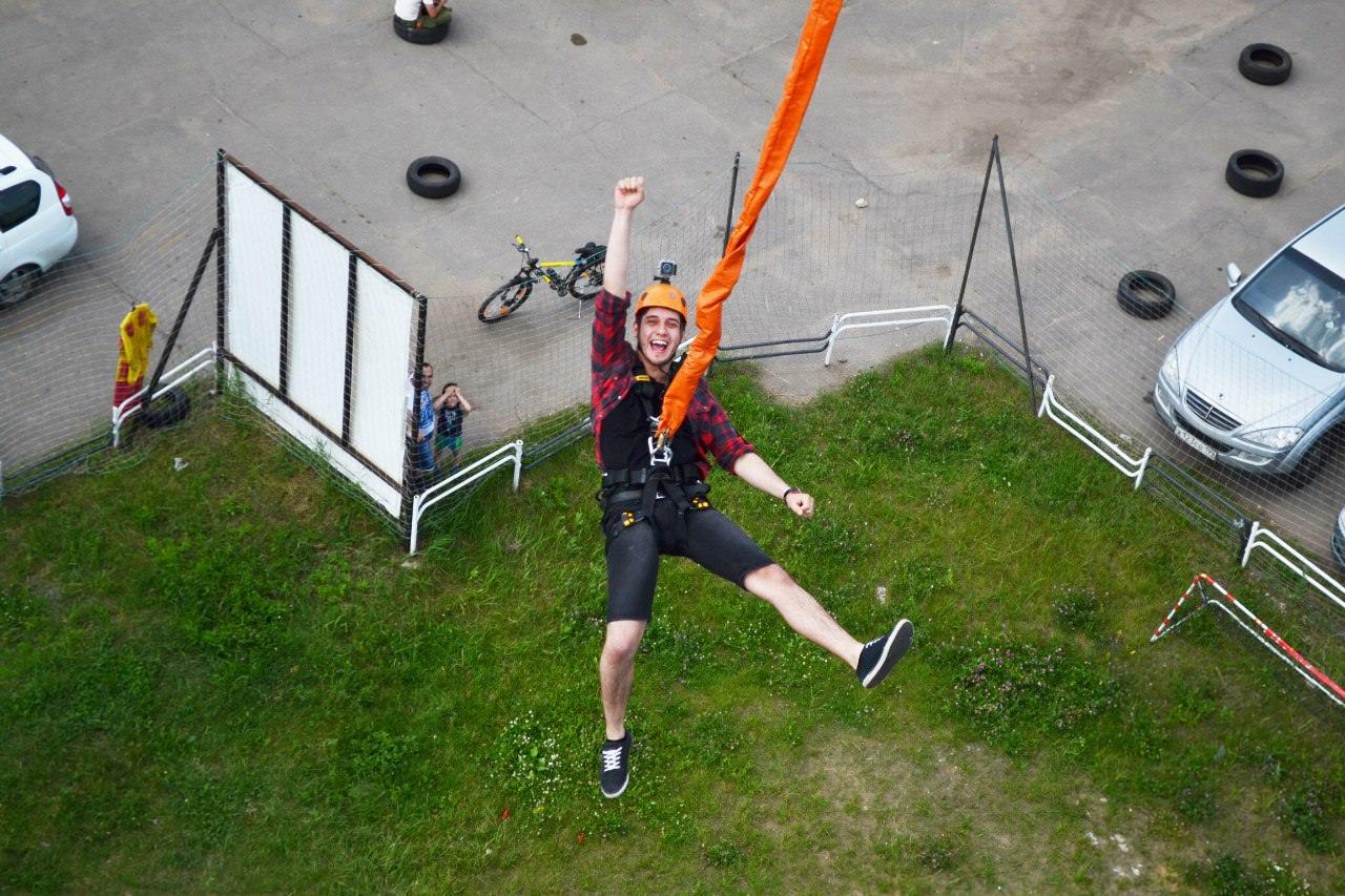 Роупджампинг прыжки в Москве с 23 метров