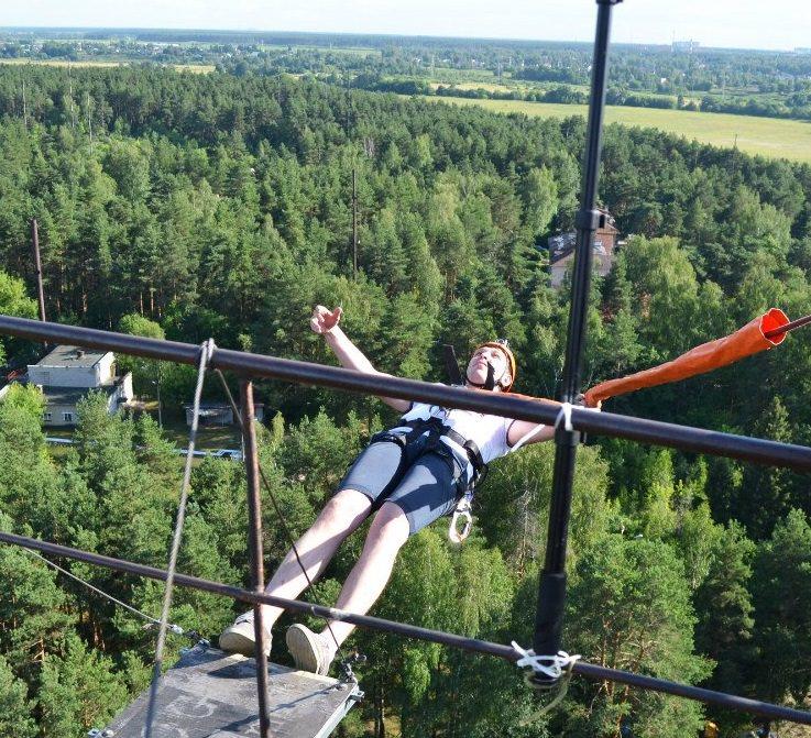Прыжок летом с 50 метровой высоты