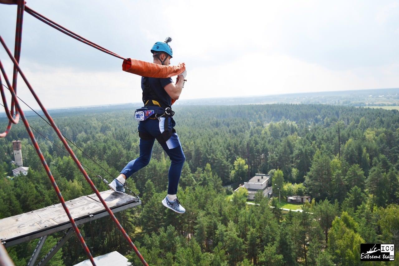 прыжок с веревкой с высоты 50 метров