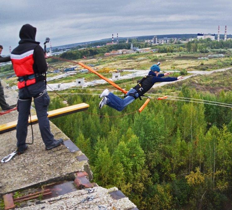 Роупджампинг прыжок с 35 метров - Пятерочка