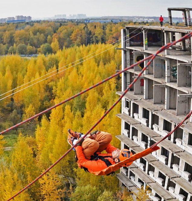 Роупджампинг с здания 35 метров