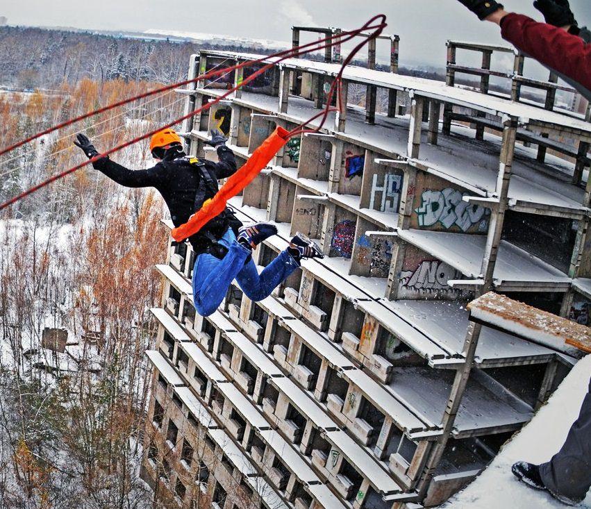 ноябрьский Ropejumping 35 метров