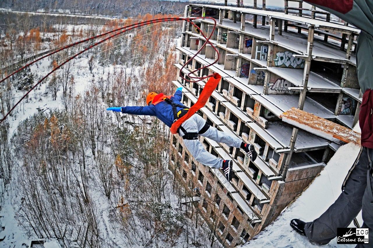 Экстрим прыжки со здания