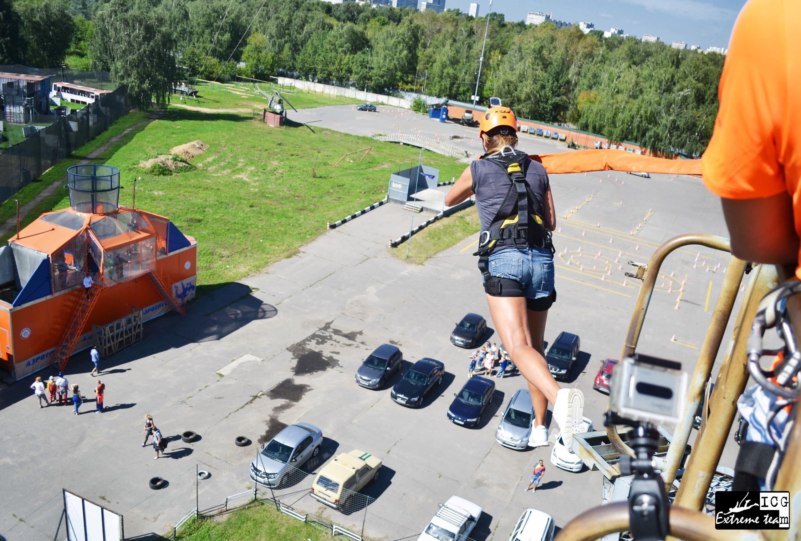 прыжки с веревкой вышка krc 23 метра