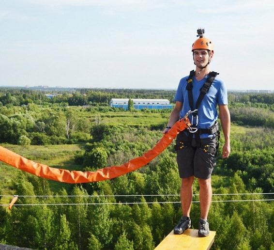 Прыжки с веревкой - роупджампинг крышка 35 метров