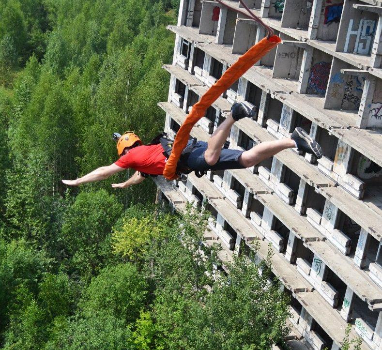 Роупджампинг с высоты 35 метров