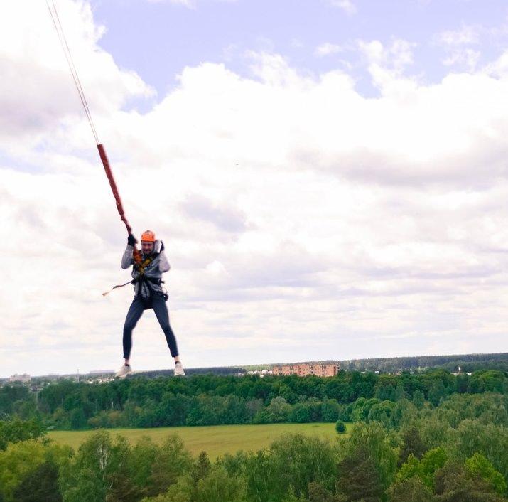 Тарзанка-прыжки с веревкой 50 метров