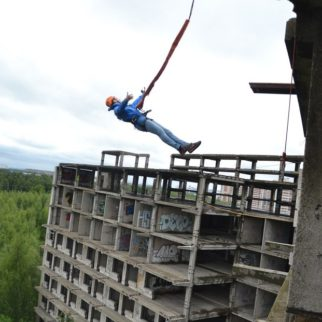 ropejumping со здания