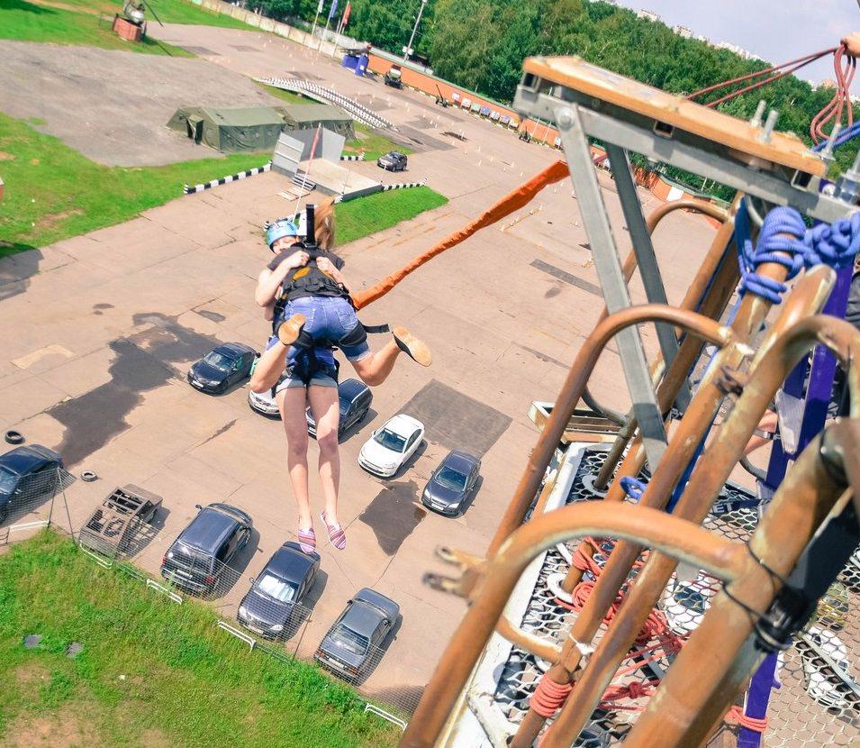 Роупджампинг в Москве - тандем прыжок