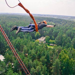 роупджампинг прыжки с вышки высотой 50 метров