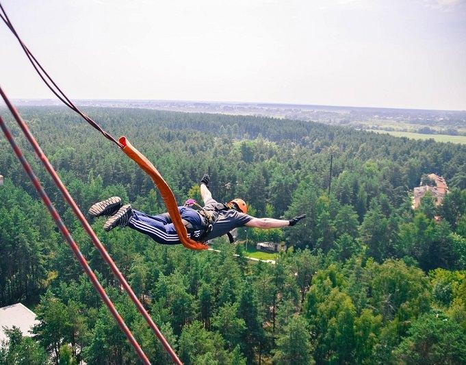 Прыжок с веревкой - 50 метров