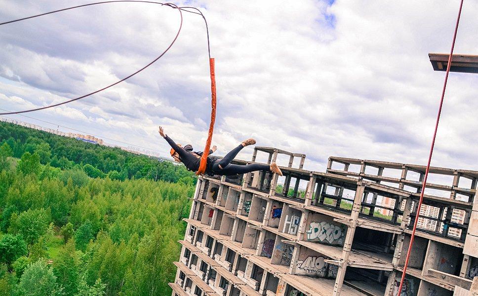 Ropejumping высота 35 метров