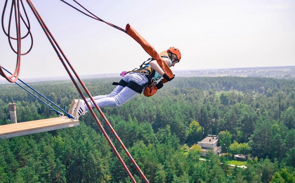 Роупджампинг прыжок с высоты 50 метров