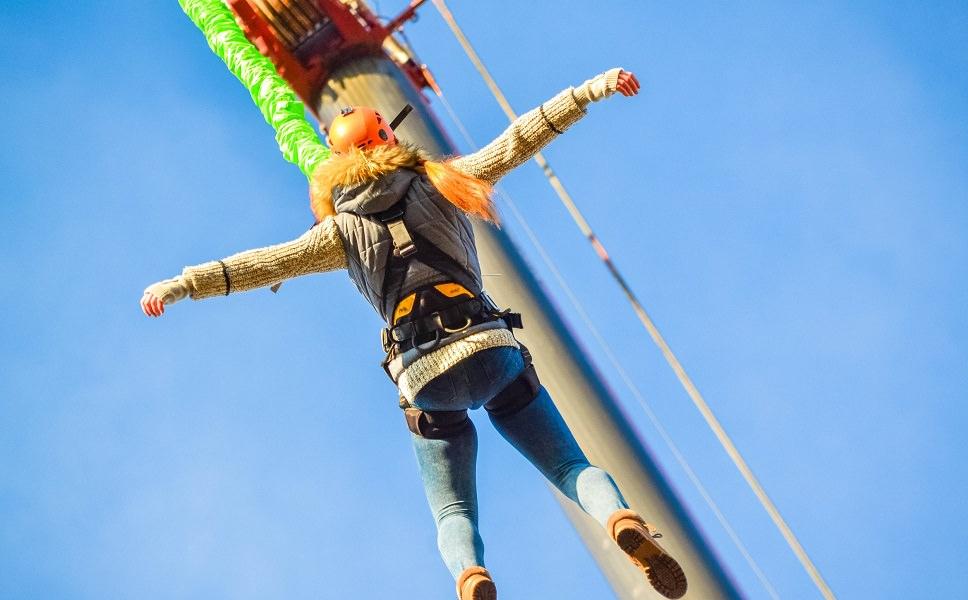 Банджи прыжок с крана 60 метров