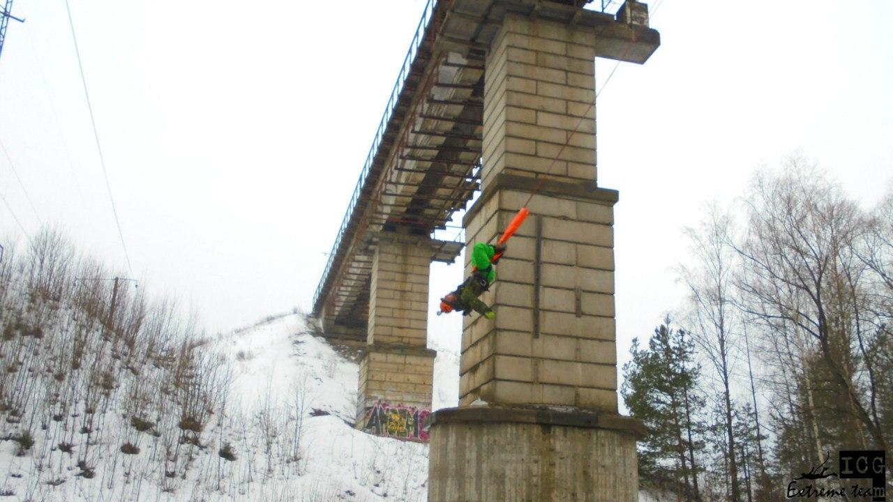 Роупджампинг с моста!