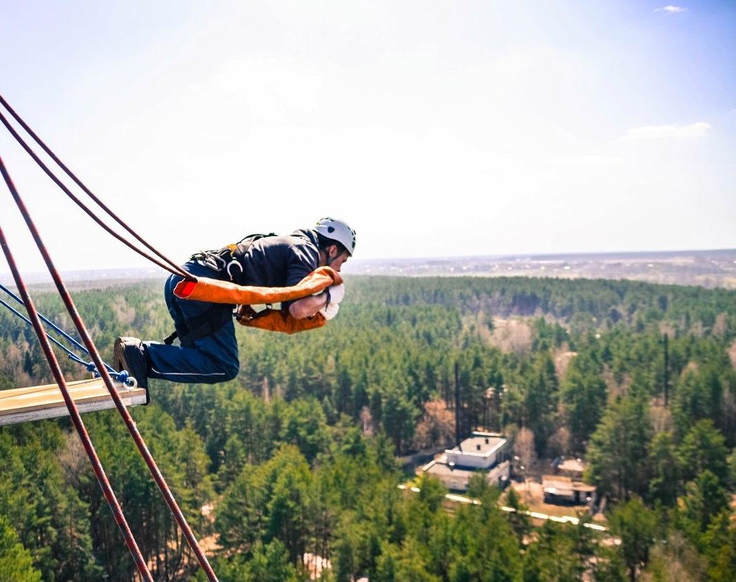 роупджампинг (тарзанка) с вышки 50 метров
