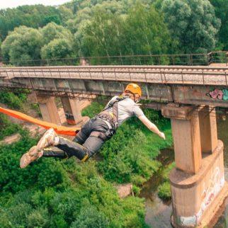 роупджампинг брыжки с моста