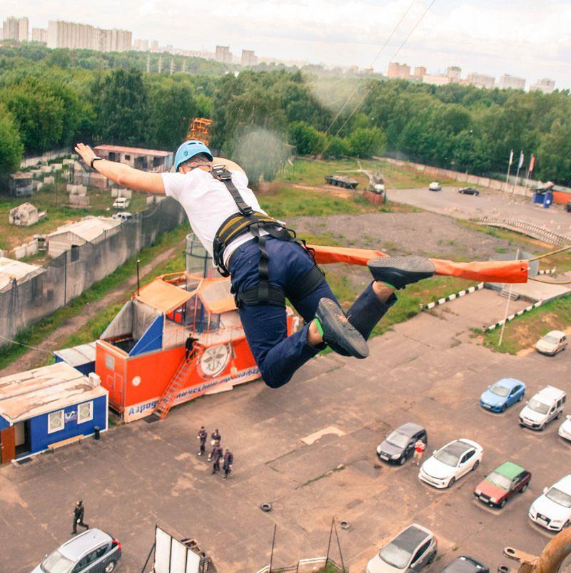 Тарзанка КРЦ Москва