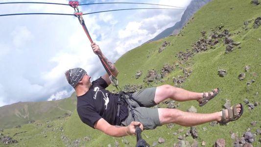 Активный отдых в горах Часть 1 - троллей