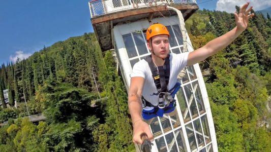 Сочные прыжки в Абхазии!